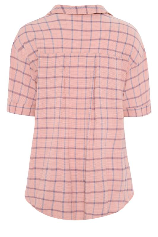 THE LIMITED EDIT Pink Check Pleated Front Top_BK.jpg