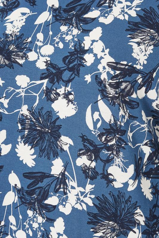 Blue Floral Split Hem Tunic_S.jpg