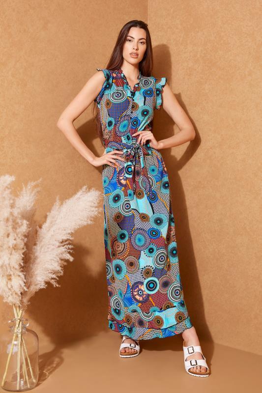 LTS Blue Circle Frill Wrap Maxi Dress_L.jpg