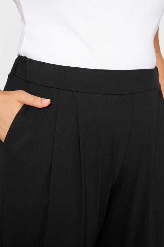 LIMITED COLLECTION Black Pleated Wide Leg Trousers_D.jpg