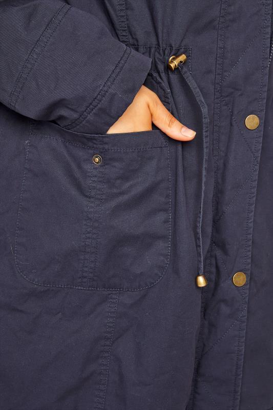 Navy Faux Fur Trim Hooded Parka_E.jpg