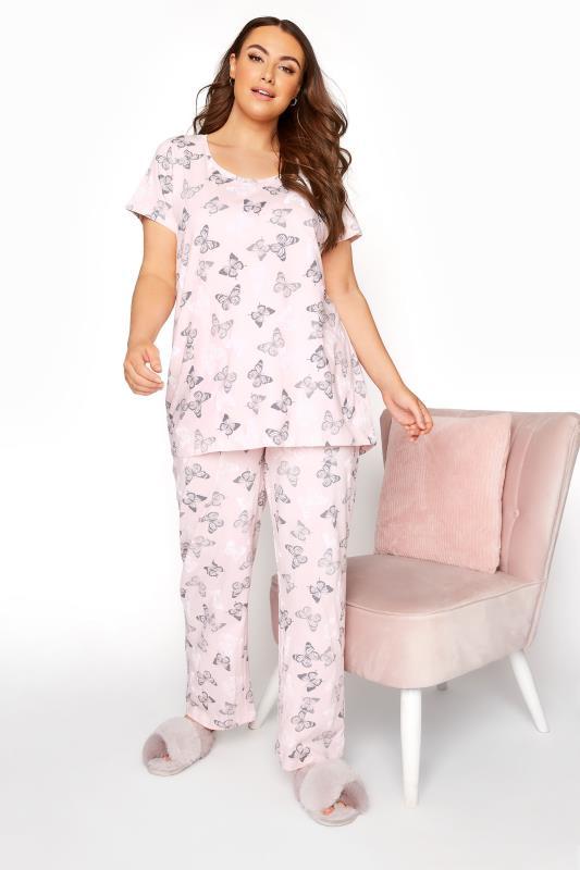 Blush Pink Summer Butterfly Pyjama Set_B.jpg