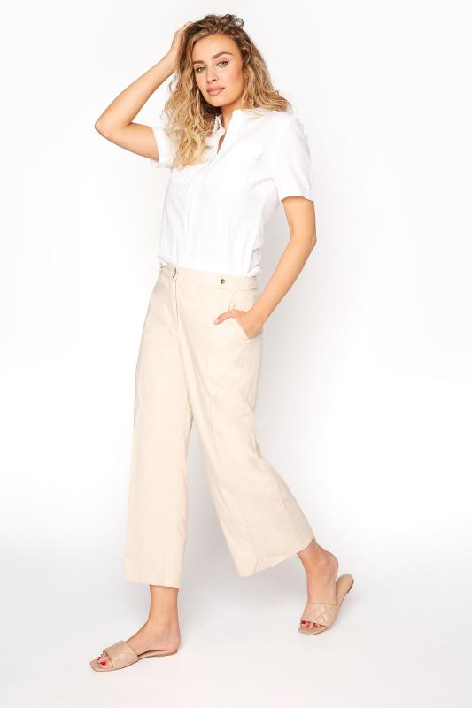 Ivory Natural Blend Wide Leg Culottes