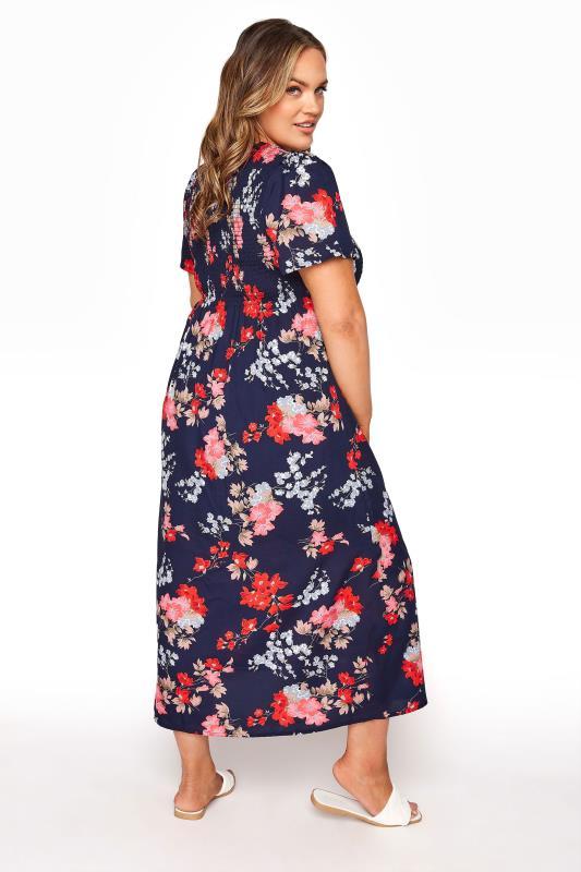 Blue Floral Shirred Maxi Dress_C.jpg