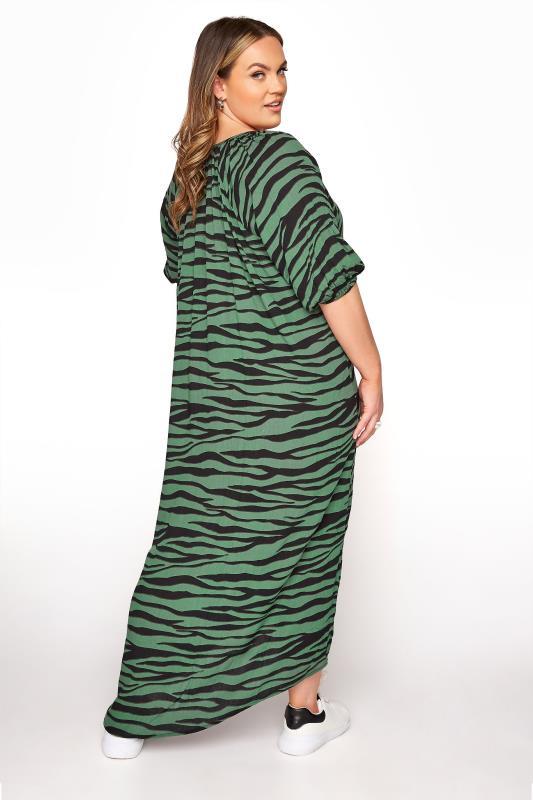 LIMITED COLLECTION Green Zebra Print Midaxi Dress_C.jpg