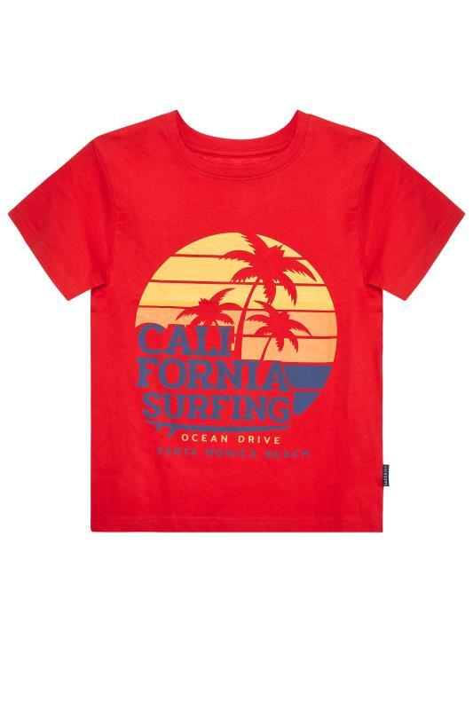 Men's  BadRhino Boys Red Matching California Surfing T-Shirt