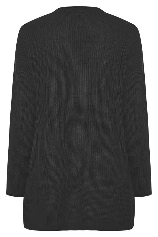 Black Knitted Pointelle Cardigan_BK.jpg