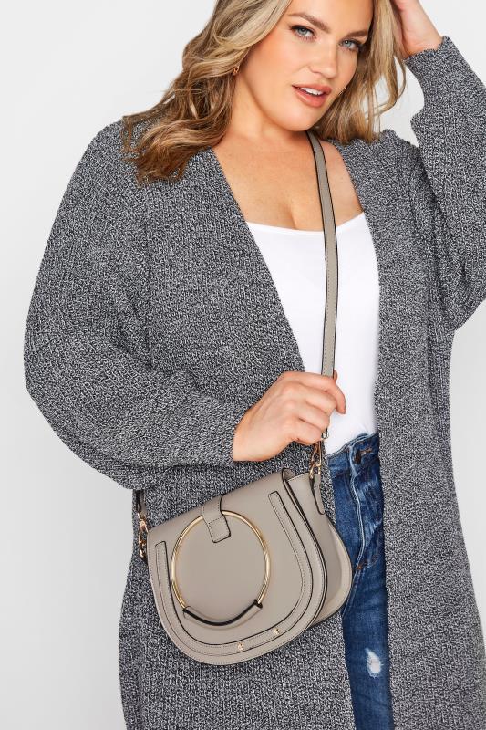 Grey Circle Dual Handle Saddle Bag