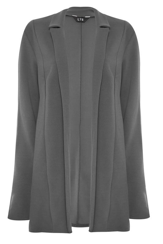 LTS Charcoal Grey Scuba Longline Blazer_F.jpg