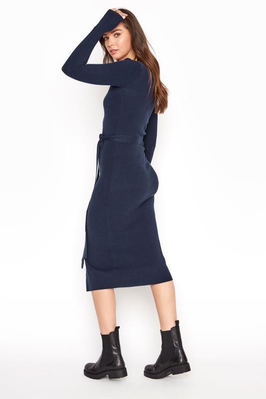 Navy Button Through Knitted Cardigan Dress_C.jpg