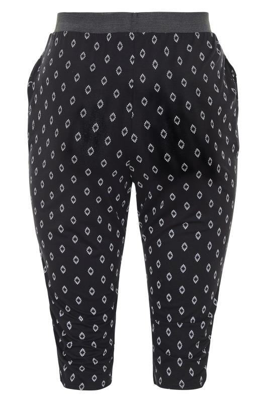 Black Diamond Print Cropped Harem Trousers_BK.jpg