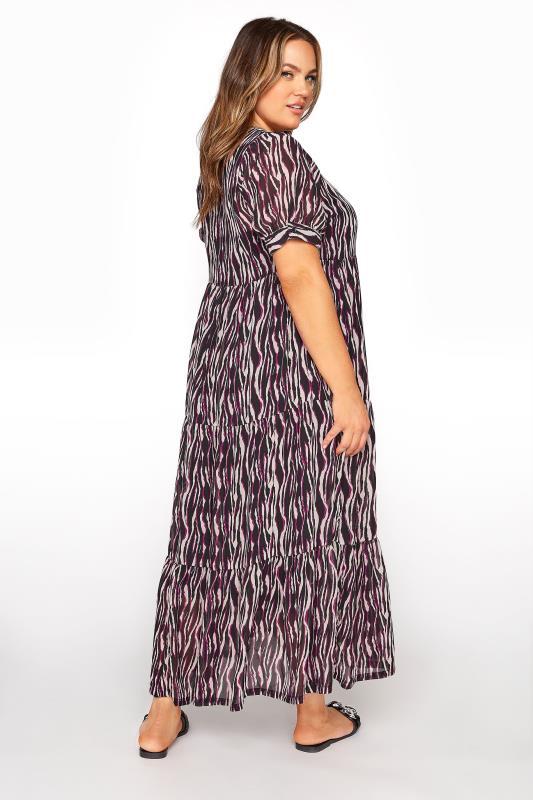LIMITED COLLECTION Black Zebra Print Tiered Maxi Dress_C.jpg