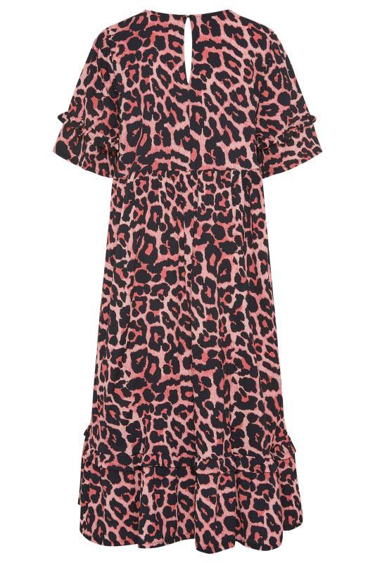THE LIMITED EDIT Pink Leopard Print Smock Midaxi Dress_BK.jpg