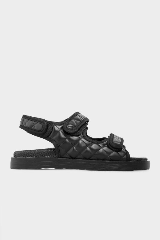 Black Quilted Velcro Sandal_B.jpg