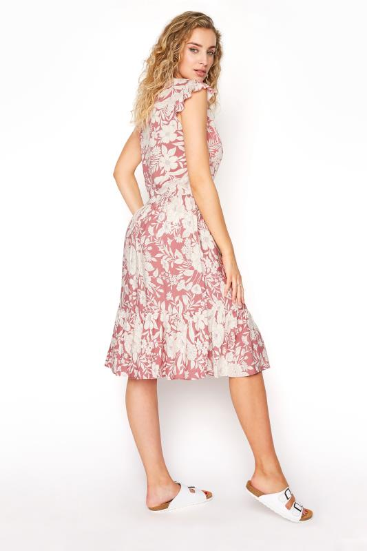 LTS Pink Tiered Frill Sleeve Floral Tunic_C.jpg