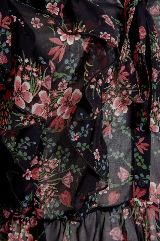 THE LIMITED EDIT Black Floral Frill Peplum Blouse_S.jpg