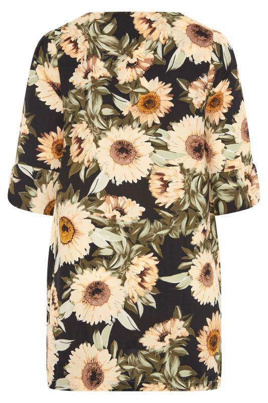 Black Sunflower V-Neck Shift Dress_BK.jpg