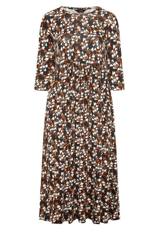 Black Floral Print Pocket Midaxi Dress_F.jpg