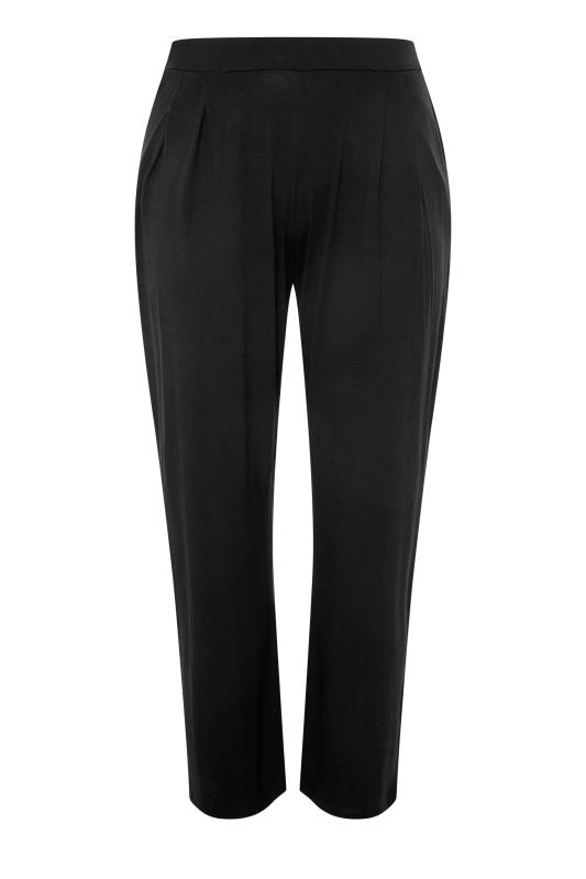 LIMITED COLLECTION Black Pleated Wide Leg Trousers_F.jpg