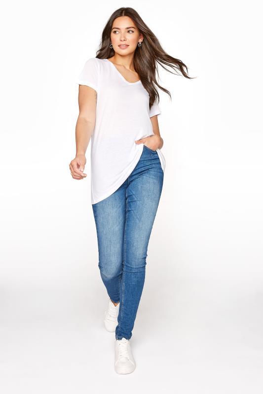 LTS White Linen Blend V-Neck T-Shirt_B.jpg