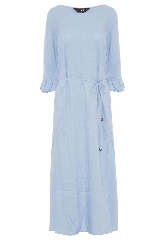 LTS Blue Frill Sleeve Midi Dress_F.jpg
