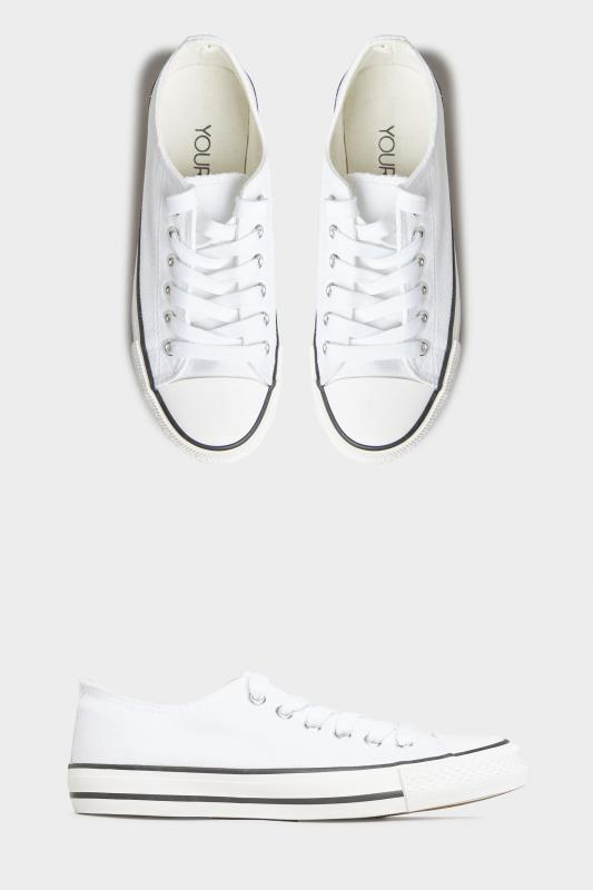 White Canvas Low Trainers In Wide Fit_split.jpg