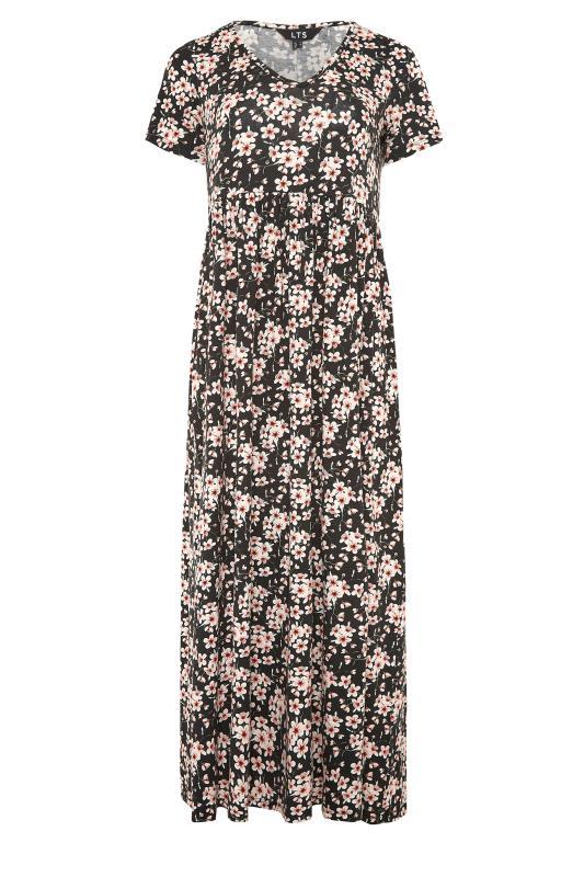 LTS Black Floral Print Jersey Midi Dress_F.jpg