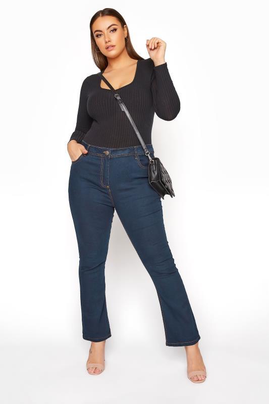 Plus Size Bootcut Jeans Indigo Bootcut ISLA Jeans
