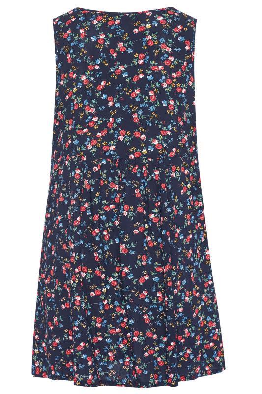 Navy Floral Drop Pocket Dress_bk.jpg