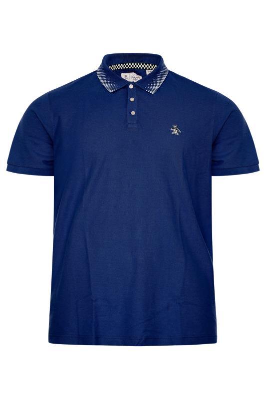 Plus Size  PENGUIN MUNSINGWEAR Navy Checkered Collar Polo Shirt