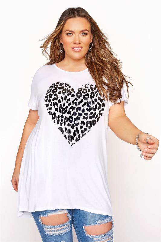 White Animal Heart T-Shirt