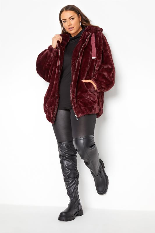 Burgundy Faux Fur Oversized Jacket_BR.jpg