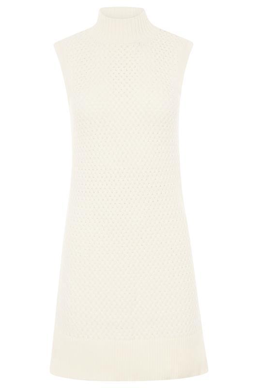 LONG ELEGANT LEGS Cream Knitted Sleeveless Tunic