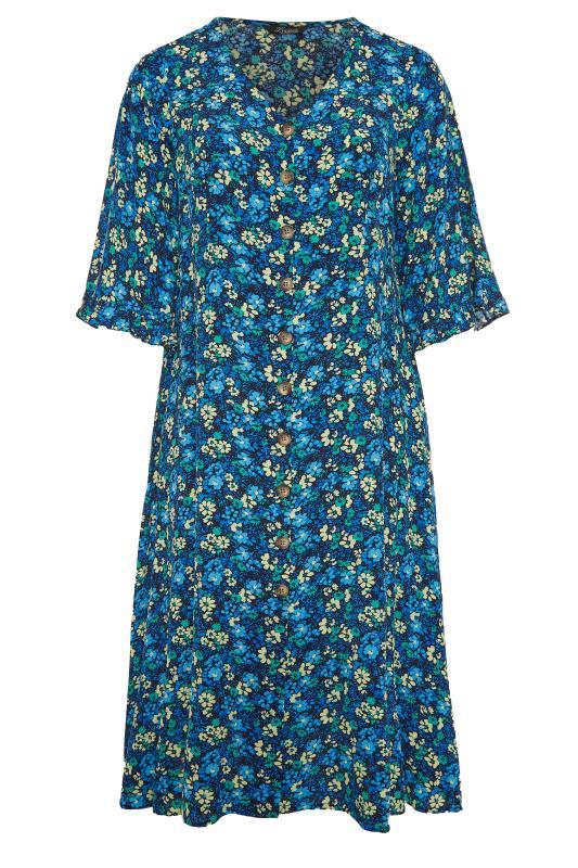 THE LIMITED EDIT Blue Floral Midaxi Dress_F.jpg