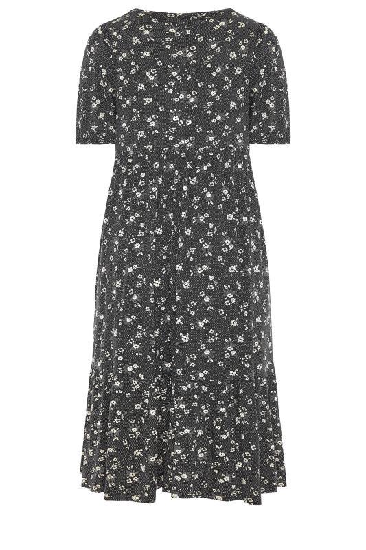 Black Floral Frill Hem Midi Dress_BK.jpg