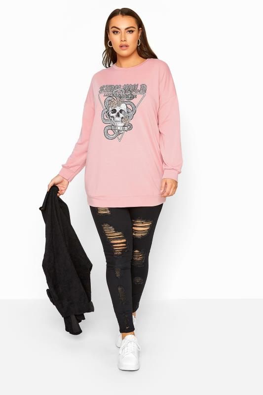 LIMITED COLLECTION Pink Foil 'Stay Wild' Sweatshirt