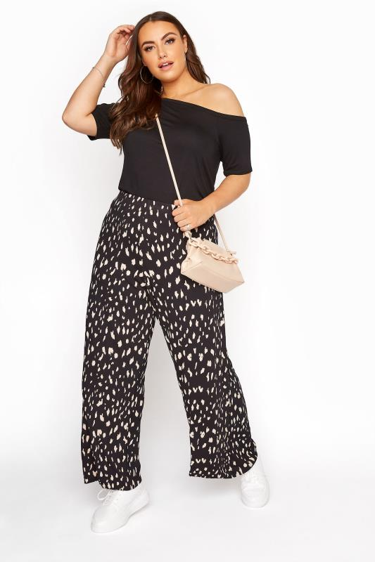 Plus Size  LIMITED COLLECTION Wide Leg Marking Trousers