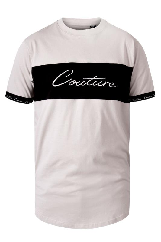 Men's  D555 White Couture Printed T-Shirt