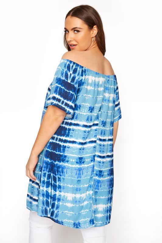 Blue Tie Dye Gathered Gypsy Tunic_C.jpg