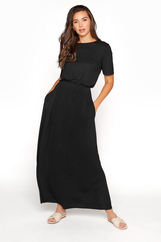 Tall  LTS Black Pocket Midaxi Dress