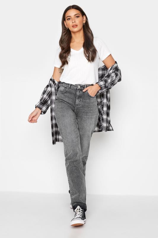 Tall  LTS Grey Mom Jeans