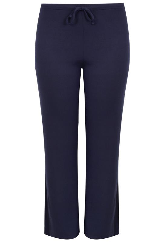 BESTSELLER Navy Wide Leg Pull On Stretch Jersey Yoga Pants_F.jpg