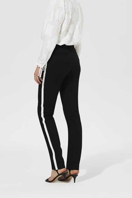 KARL LAGERFELD Black Side Stripe Trouser