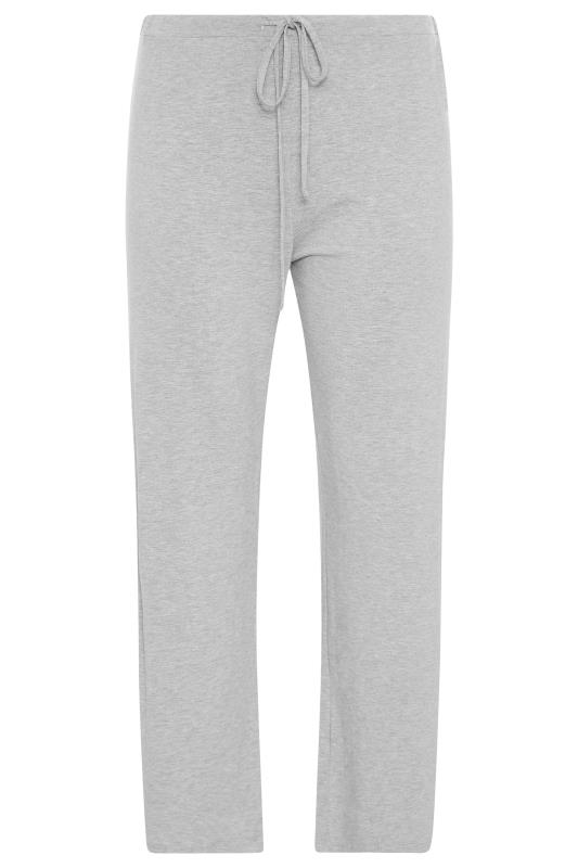 Grey Wide Leg Pull On Stretch Jersey Yoga Pants_F.jpg