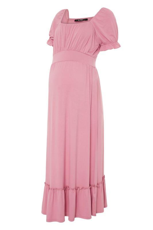 LTS Maternity Dusky Pink Milkmaid Dress_F.jpg