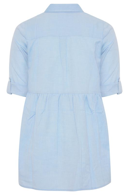 Light Blue Chambray Peplum Shirt_BK.jpg