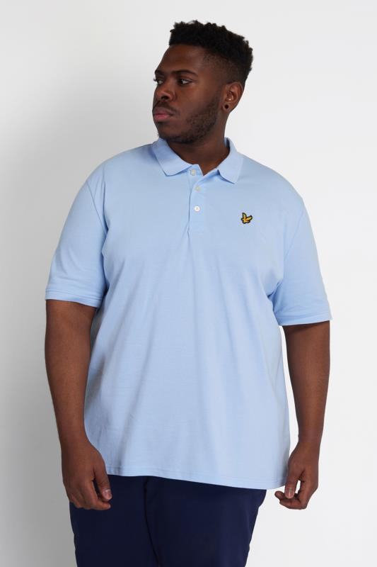 Plus Size  LYLE & SCOTT Light Blue Polo Shirt