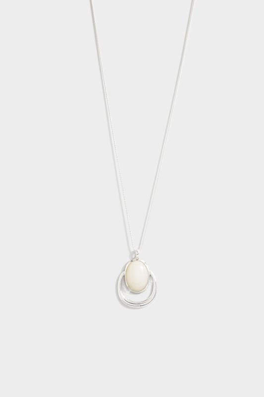 Silver Pendant Long Necklace