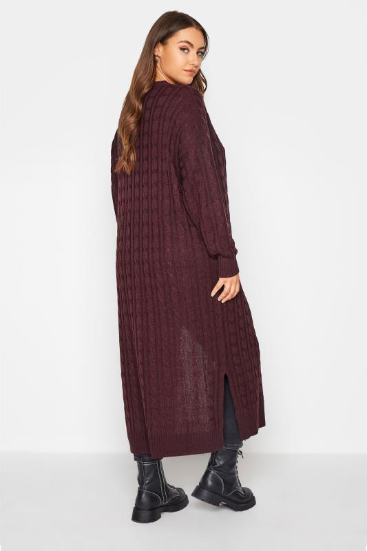 Berry Cable Knitted Maxi Cardigan_C.jpg