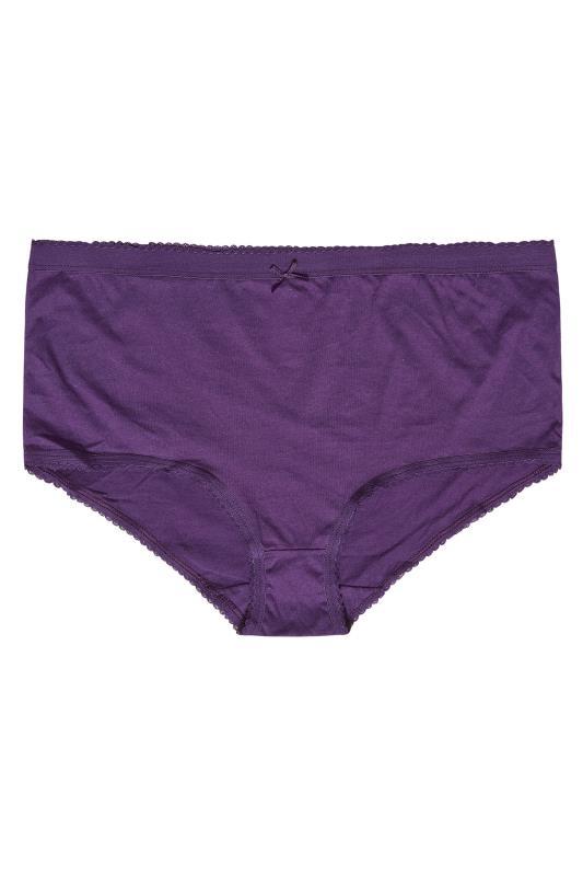 5 PACK Purple & Black Star Print Full Briefs_D.jpg